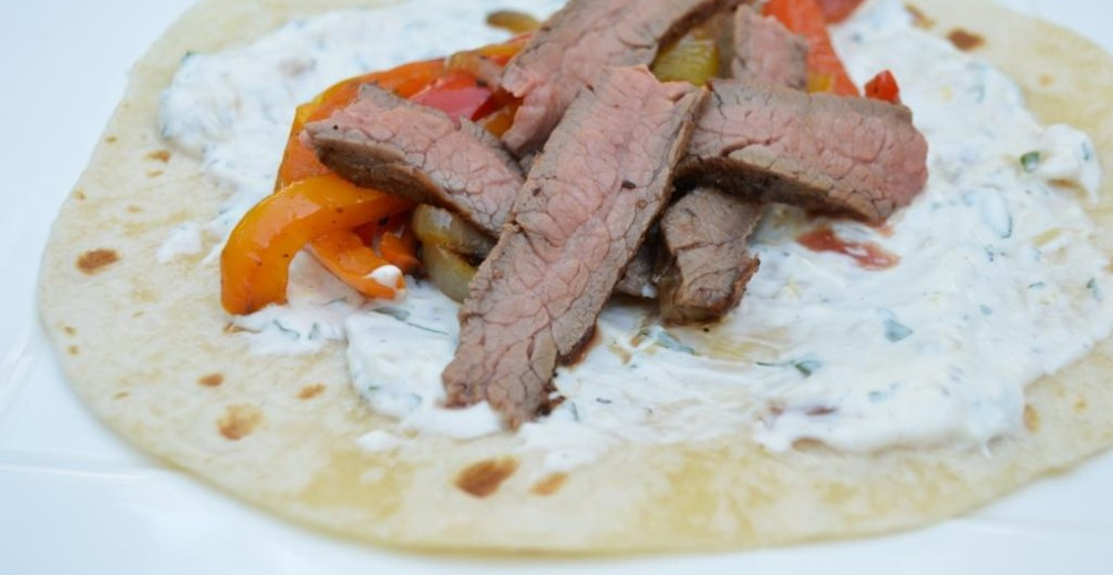 Flank Steak Fajita Roll Up